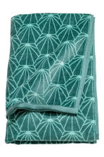 Jacquard-patterned bath towel - Petrol green - Home All | H&M CA 2